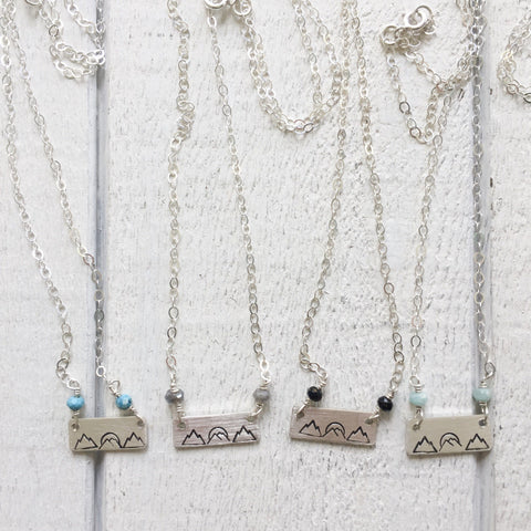 Happy Place Mountain Necklace
