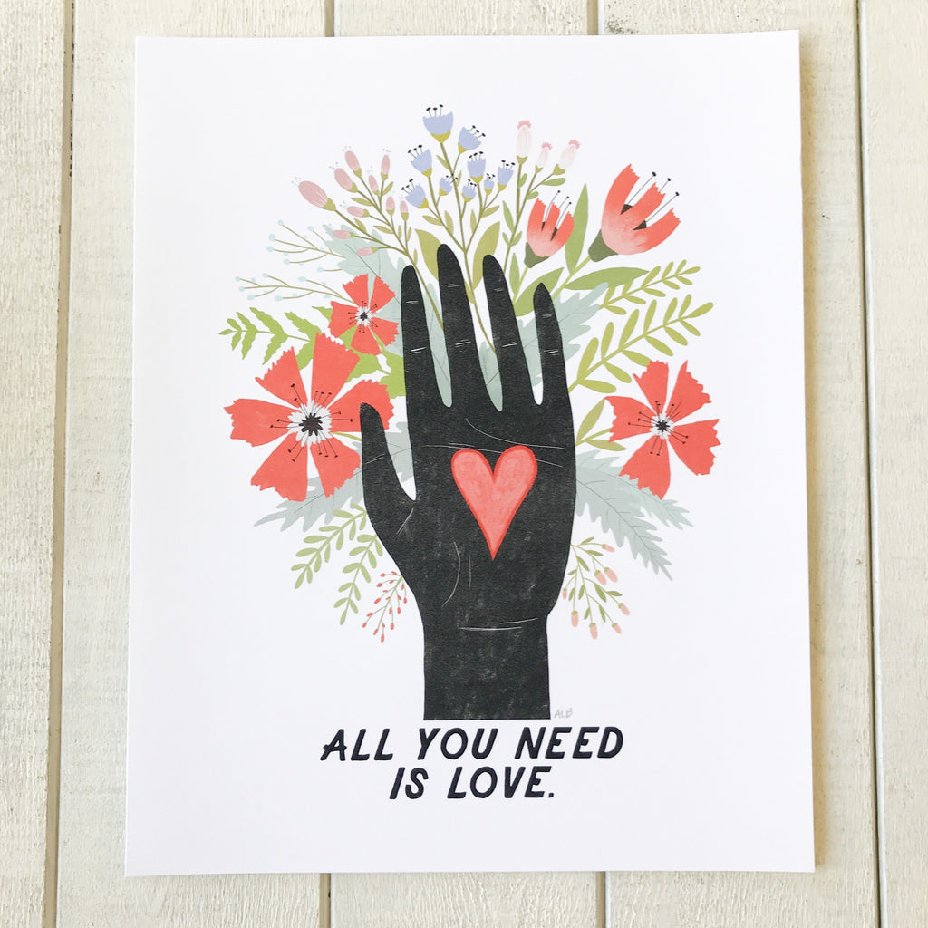 All You Need Print Print handmade gift Bozeman, Montana