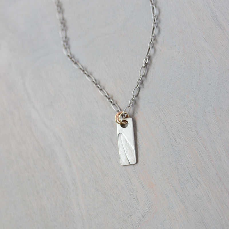 Veronica Speedwell Leaf Impression Necklace