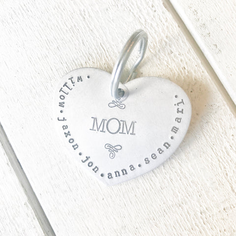 Mom's Big Heart Keychain