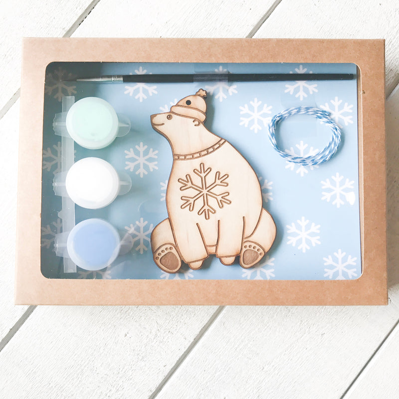 DIY Polar Bear Ornament Craft Kit Ornament Kit handmade gift Bozeman, Montana