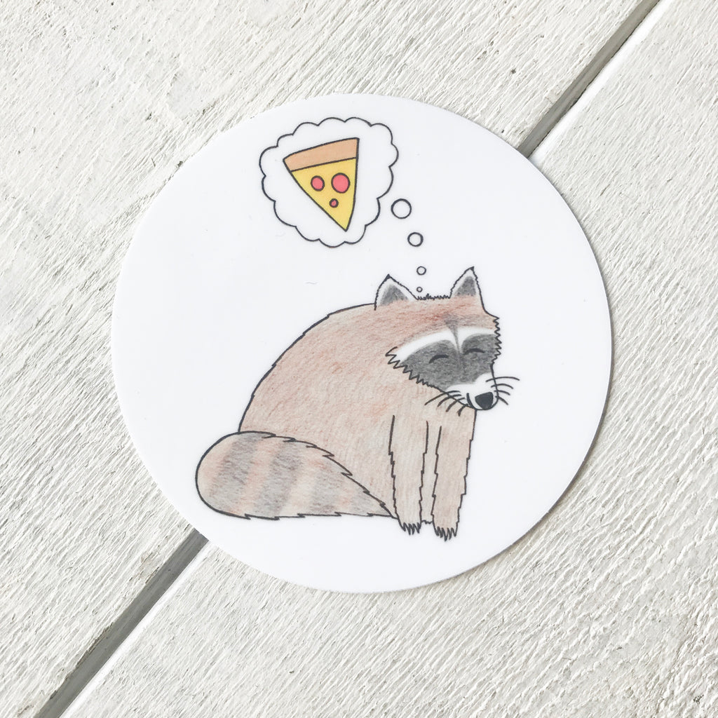 Pizza Dreams Sticker Sticker handmade gift Bozeman, Montana