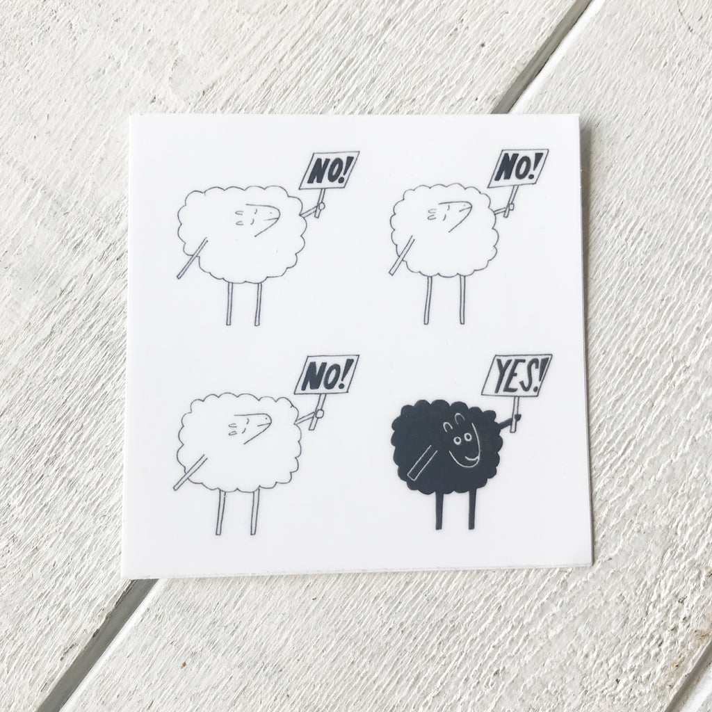 Black Sheep Sticker Sticker handmade gift Bozeman, Montana