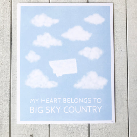 Big Sky Country Print