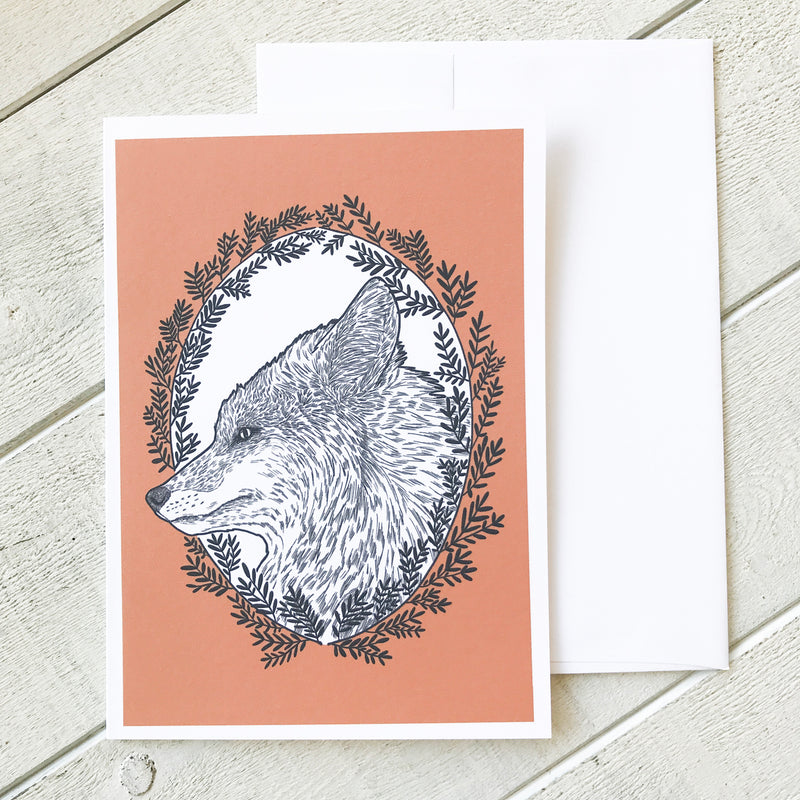 Red Fox Greeting Card Greeting Card handmade gift Bozeman, Montana