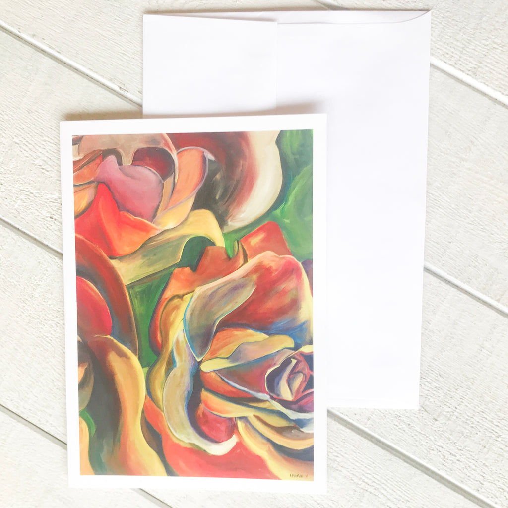 Red Rose Card Greeting Card handmade gift Bozeman, Montana