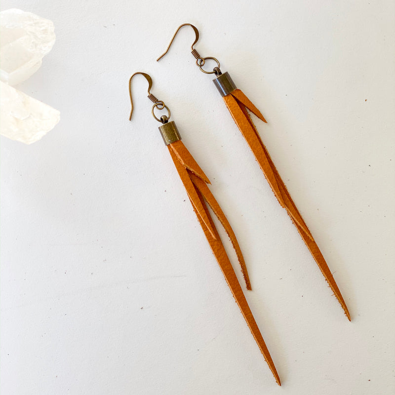 Leather Fringe Earrings