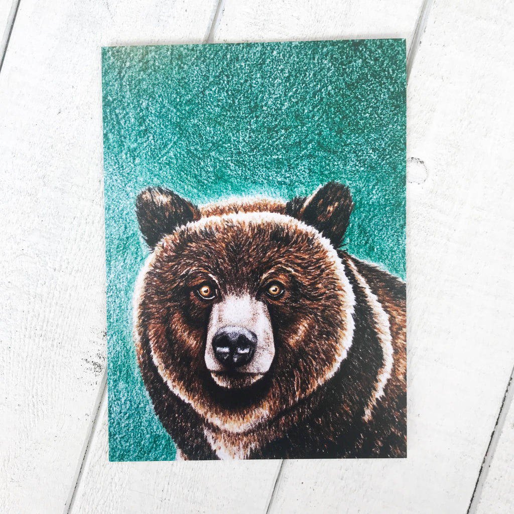 Grizzly Bear Print