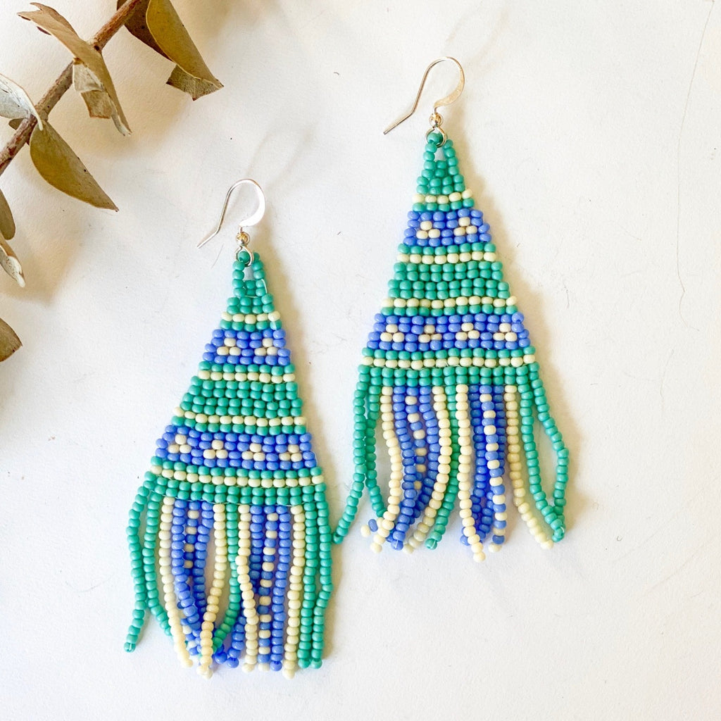 Betsy Seed Bead Fringe Earrings