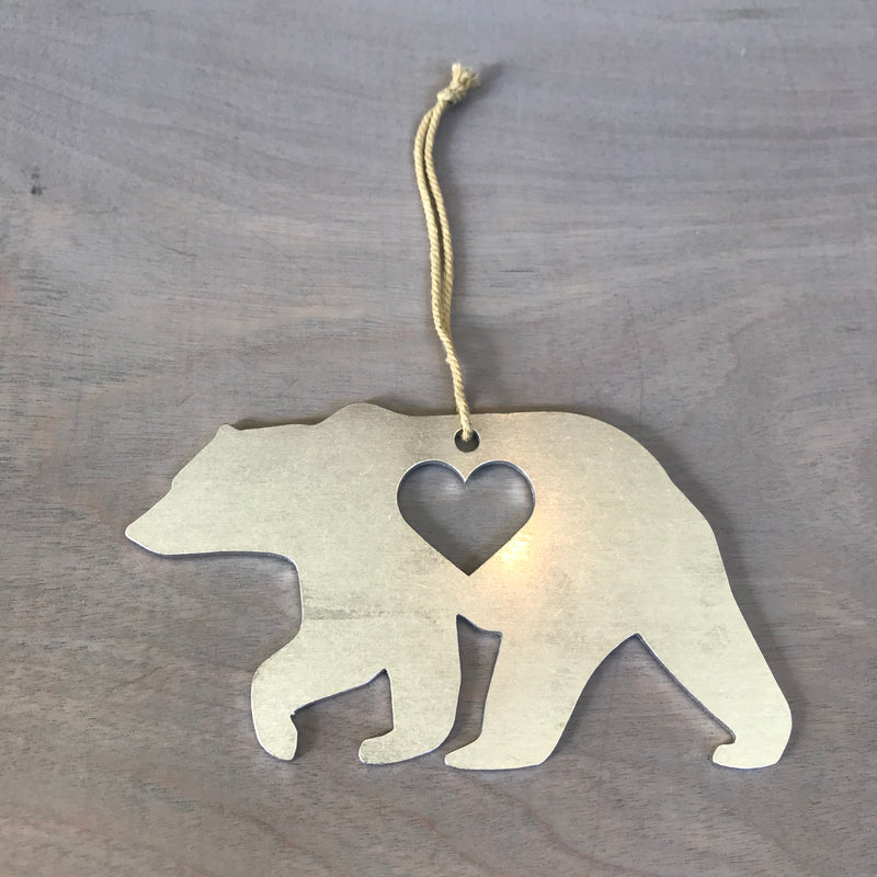Bear Metal Holiday Gift Christmas Ornament