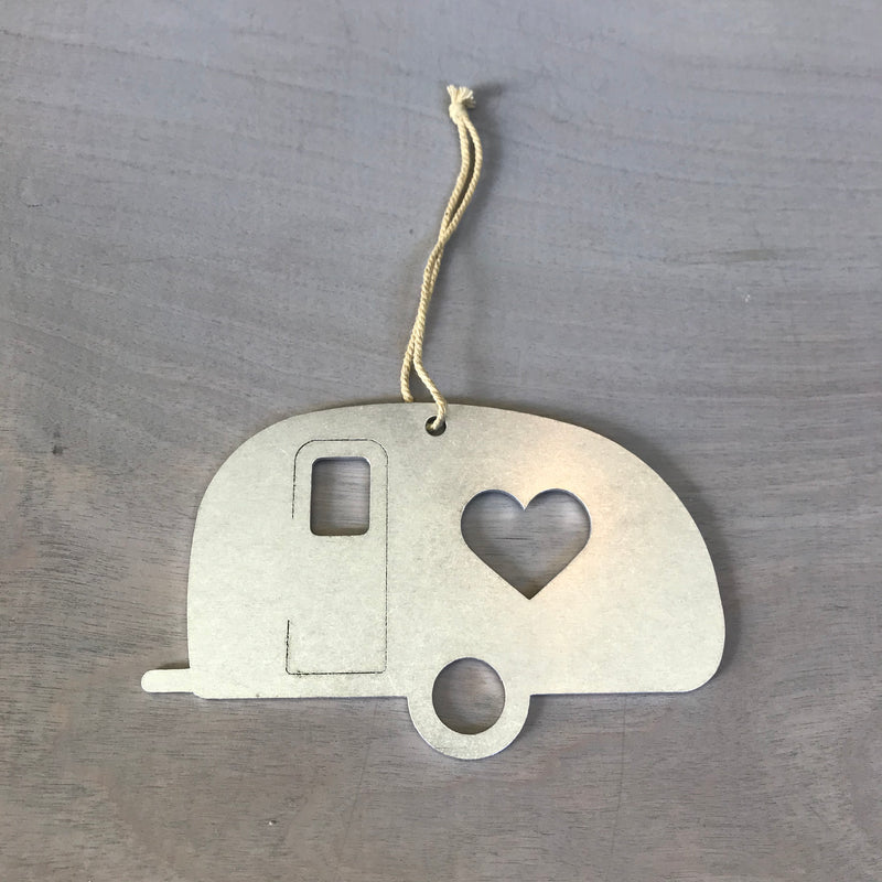 Camper Trailer Metal Holiday Gift Christmas Ornament