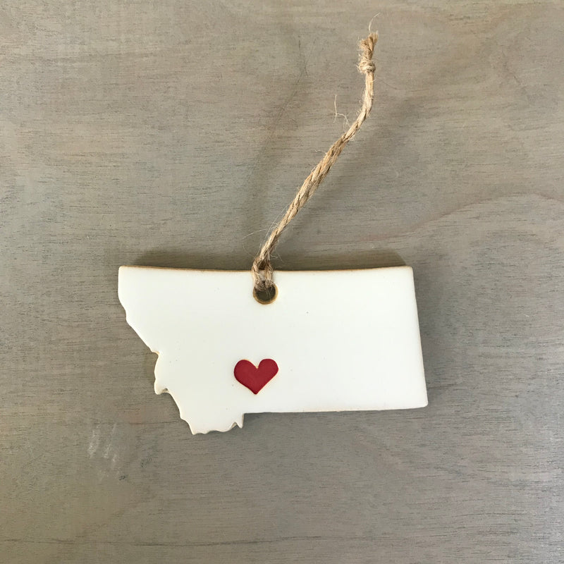 Bozeman Love Ceramic MT Ornament