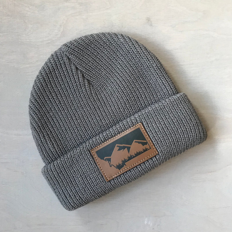 Kids Knitted Grey Beanie