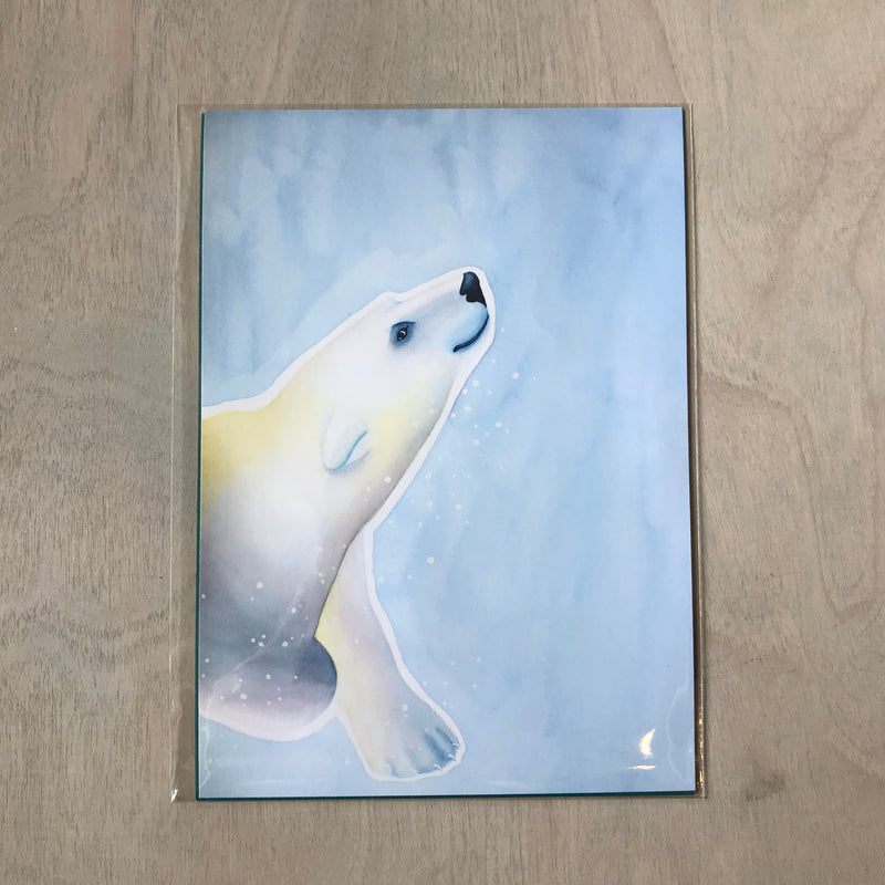 Polar Bear Original Watercolors