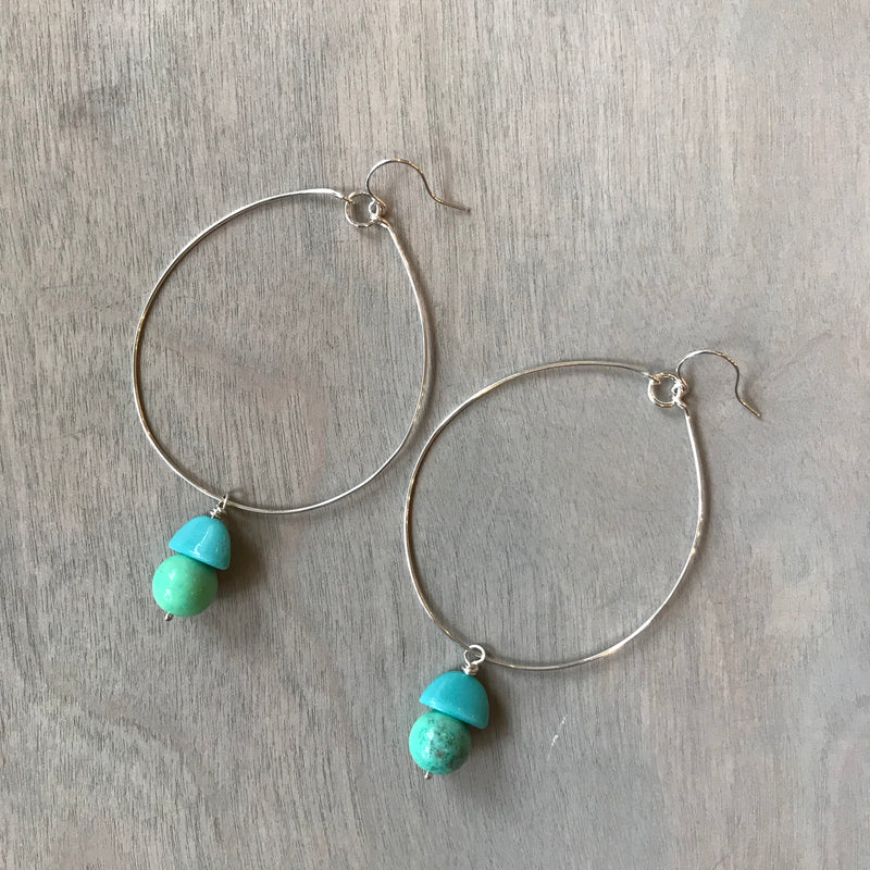 Nourish and Rejuvenate - Hoop Earrings