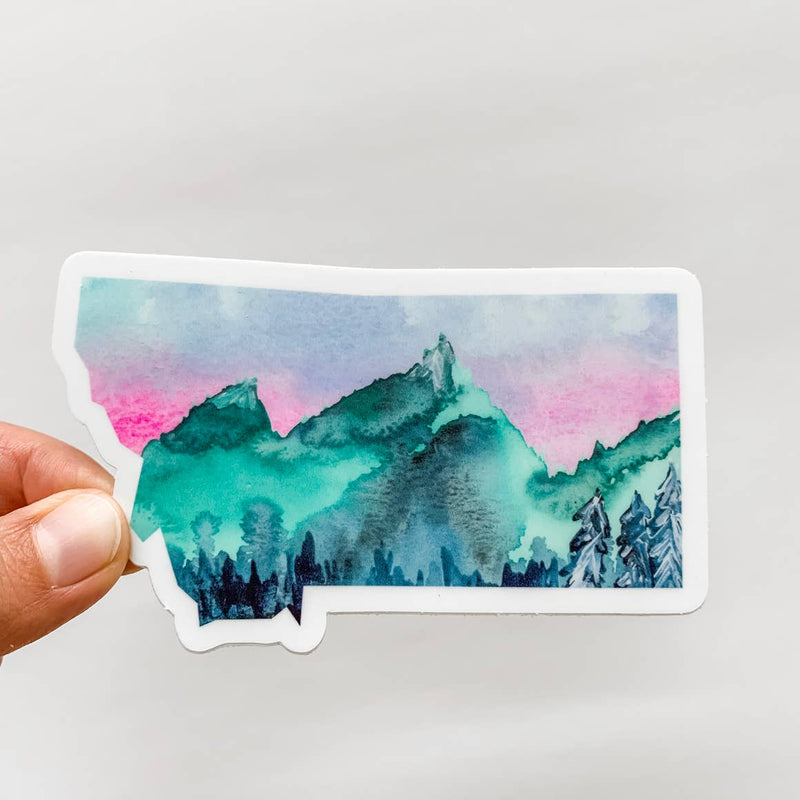 Wildflower Paper Company Montana Mountains State Sticker