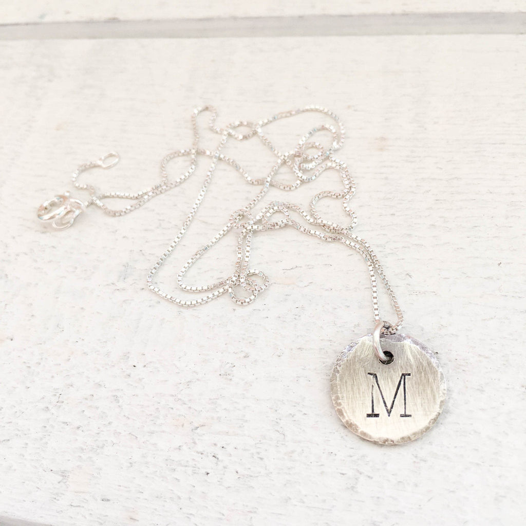 Sterling Initial Pendant Necklace Pendant handmade gift Bozeman, Montana