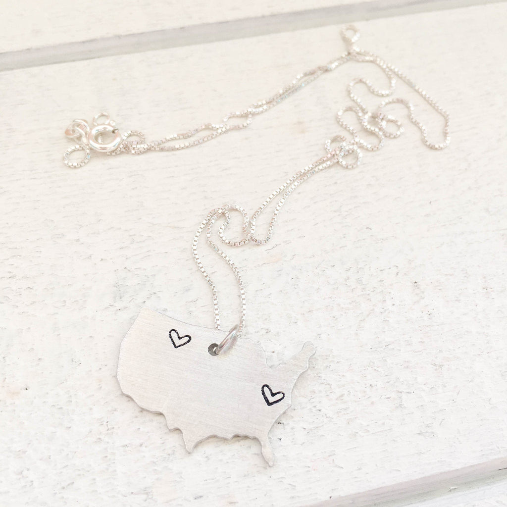 USA Pendant Necklace