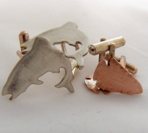Jumping Trout Cufflinks
