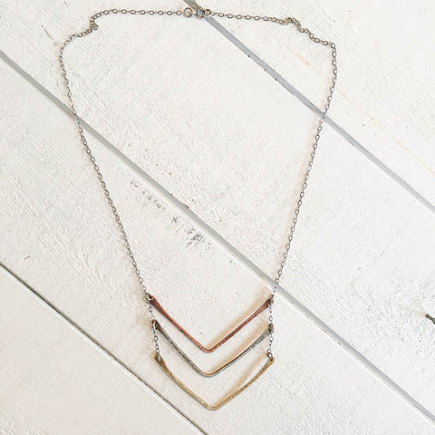 Chevron Stratus Necklace