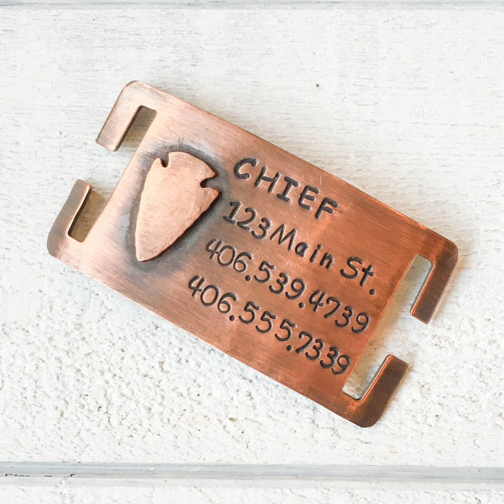 Chief Quiet Pet Tag