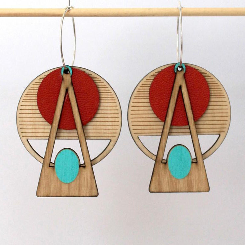 Deco Earrings: RED