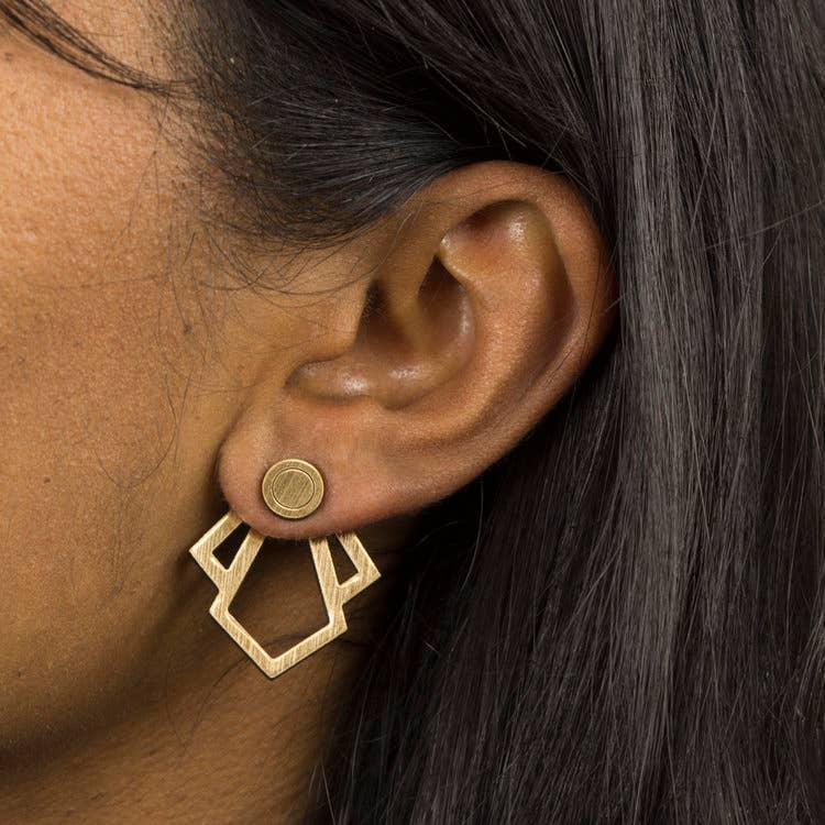 Trillion Ear Jackets Earrings