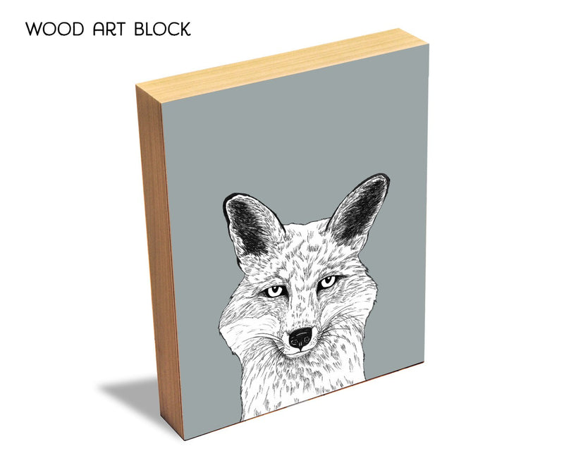 Modern Fox Wall Art Print