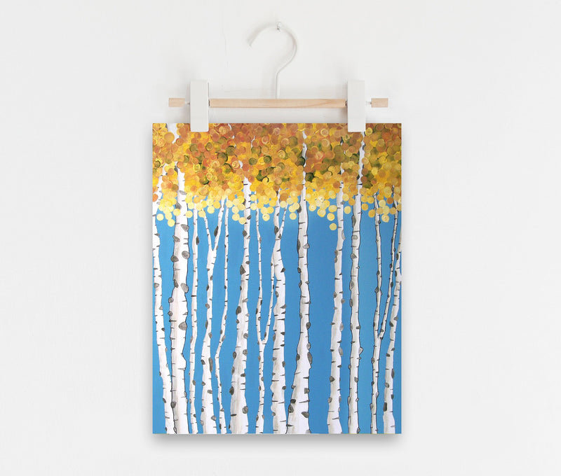 Turning Point Aspen Tree Art Print