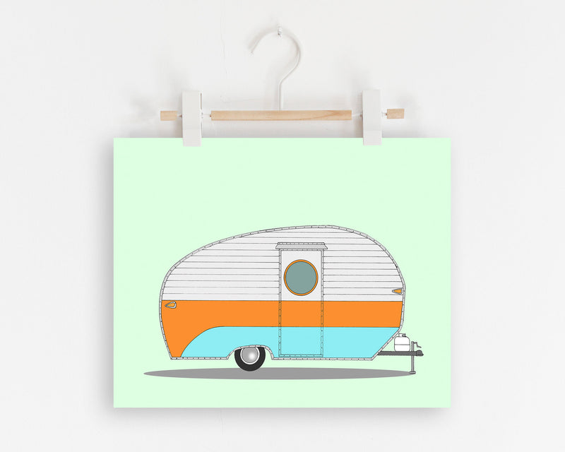 Retro Vintage Camper Wall Art