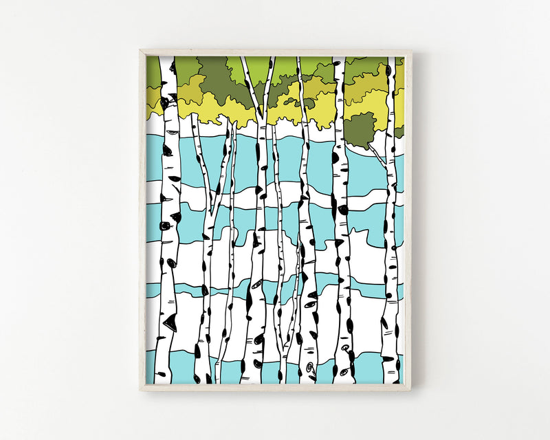 Quaking Aspens Wall Art Print