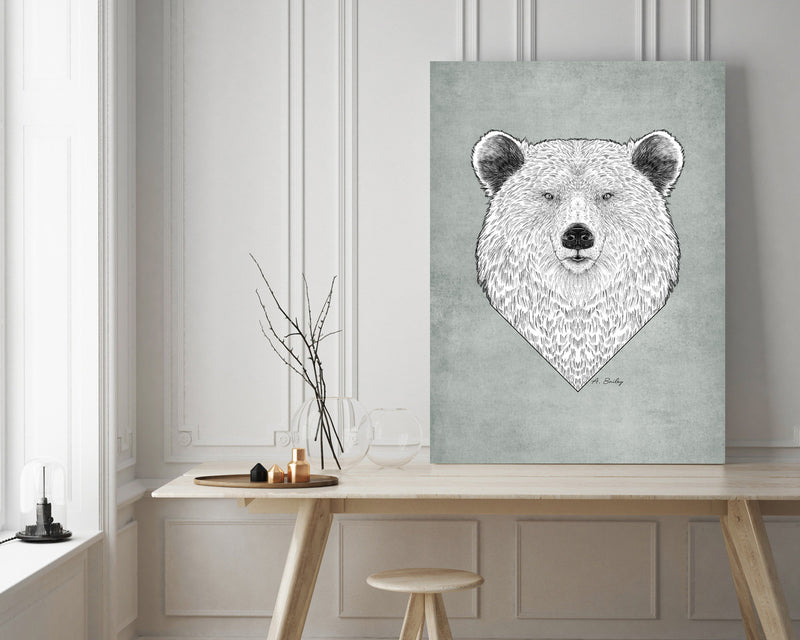 Grizzly Bear Wall Art Print