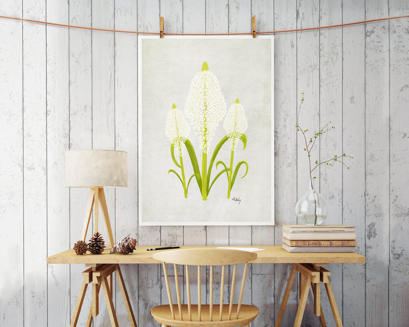 Beargrass Wildflowers Wall Art Print