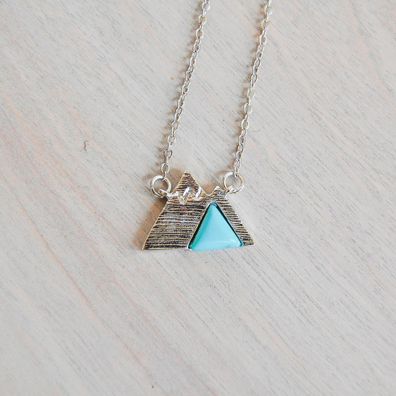 Turquoise Mountain Necklace Necklace handmade gift Bozeman, Montana