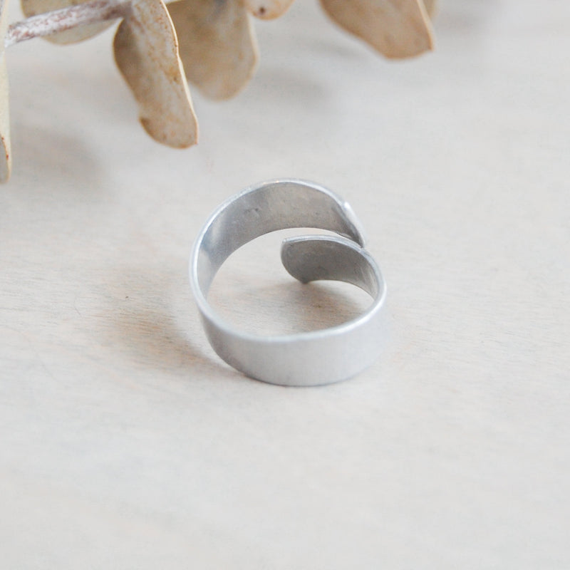 Wrap Ring in Aluminum Ring handmade gift Bozeman, Montana