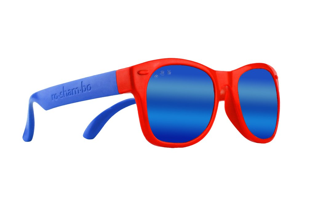 Mario Red & Blue Toddler Shades-Polarized Blue Mirror Lenses