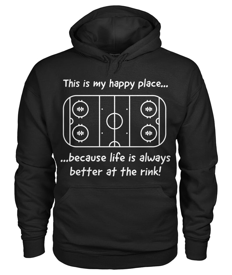 Hoodie - Happy Place - Life is better at the rink Unisex