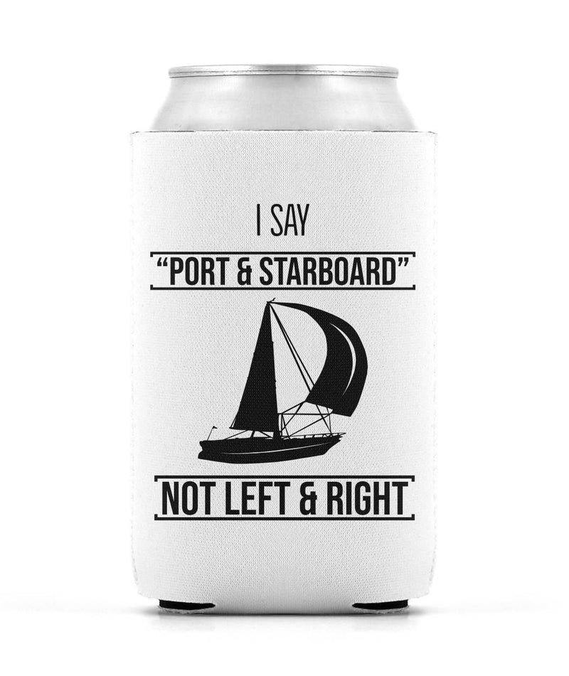 White Sailing Can Sleeve