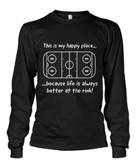 Long Sleeve Happy Place - Life is better at the rink Unisex