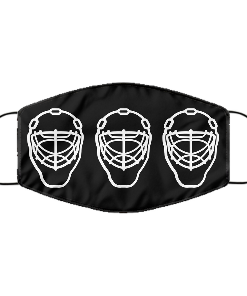 Face Mask - Goalies Washable - Black