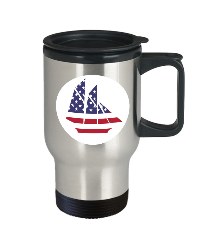 USA Sailing Travel Mug