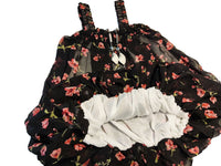 Baby Floral Sleeveless frock with Neckless (Black) - LittleDofi