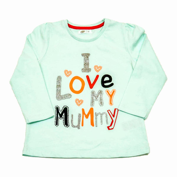 Full Sleeves Glitter work T Shirt for Baby - LittleDofi