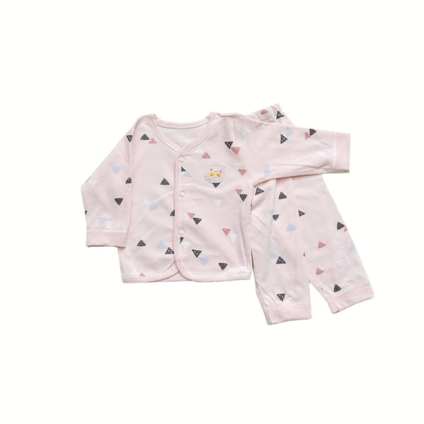 Newborn baby/baba full sleeves printed shirt with pants - LittleDofi