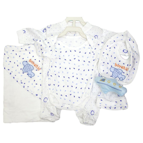 Premium Thailand 5 Pieces Baby Blanket Set with Romper and Body Suite - LittleDofi