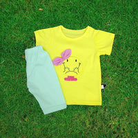 Stylish soft cotton Summer knickers & shirts for baby ( Yellow & Blue) - LittleDofi