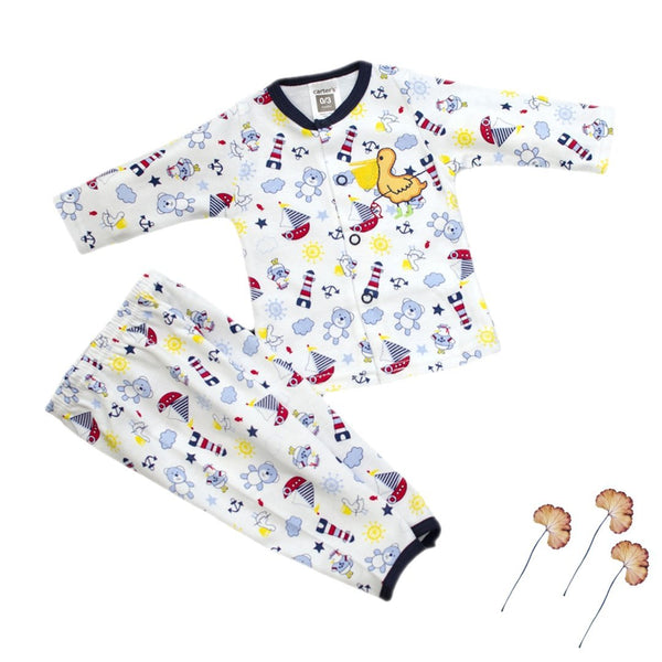 Thailand made newborn baby/baba full sleeves printed shirt with pant - LittleDofi