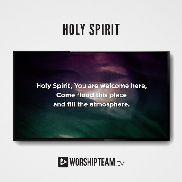 Holy Spirit Worship Resources | WorshipTeam.tv