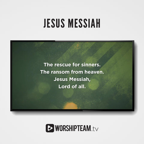 Jesus Messiah Worship Resources | WorshipTeam.tv