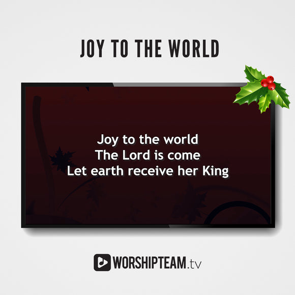 Joy to the World Worship Resources | WorshipTeam.tv